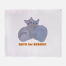Cats for Bernie! Throw Blanket