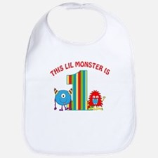 1st Birthday Monster Bib