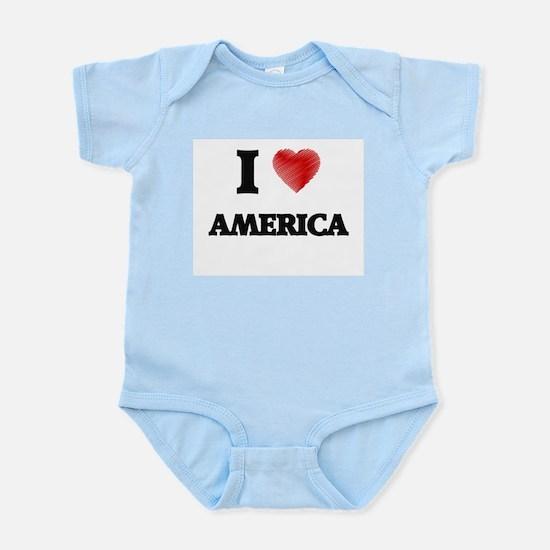 I Love AMERICA Body Suit