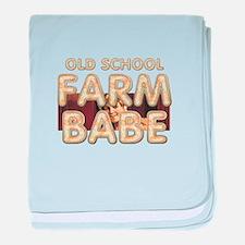 Farm Babe Old School baby blanket