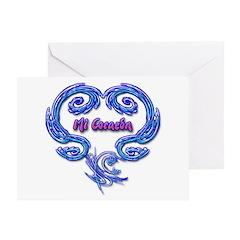 Mi Corazon Greeting Card