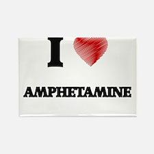 I Love AMPHETAMINE Magnets