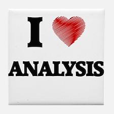 I Love ANALYSIS Tile Coaster