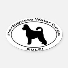 PORTUGUESE WATER DOG Oval Car Magnet
