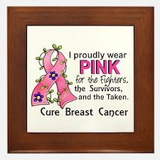 Pink For Fighters Survivors Taken Brea Framed Tile