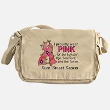 Pink For Fighters Survivors Taken Br Messenger Bag