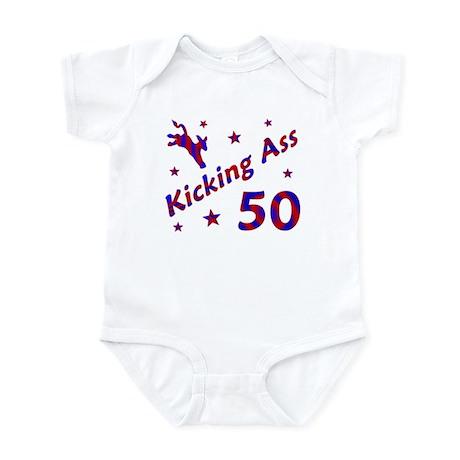 Kicking Ass 50 Infant Bodysuit