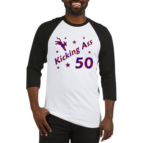 Kicking Ass 50 Baseball Jersey