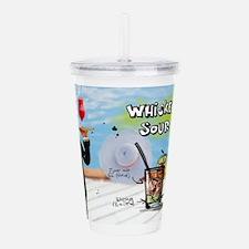 Whiskey Sour (Pool) Acrylic Double-wall Tumbler