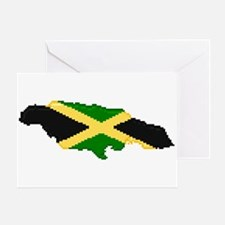 """Pixel Jamaica"" Greeting Card"