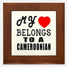 I Love Cameroonian Framed Tile