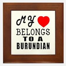 I Love Burundian Framed Tile