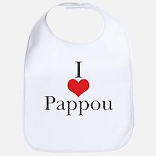 I Love (Heart) Pappou Bib