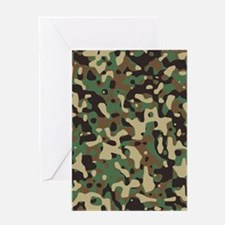 camo print Greeting Cards