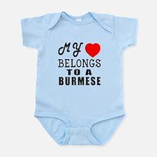 I Love Burmese Infant Bodysuit