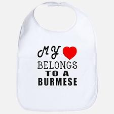 I Love Burmese Bib
