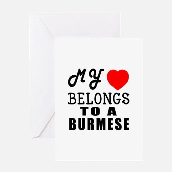 I Love Burmese Greeting Card