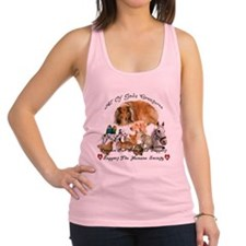 Spay and neuter Racerback Tank Top