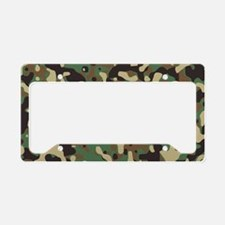 camo print License Plate Holder