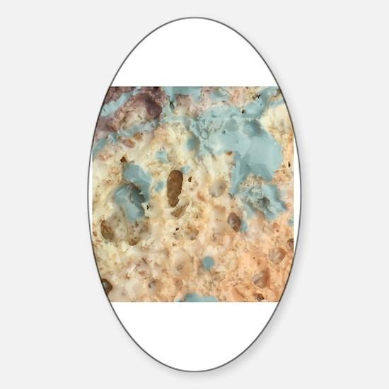 Rainbow splatter Sticker (Oval)
