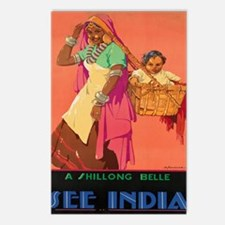 Unique Vintage india Postcards (Package of 8)