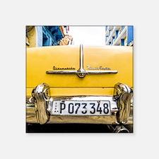 """Unique Cuba car Square Sticker 3"""" x 3"""""""