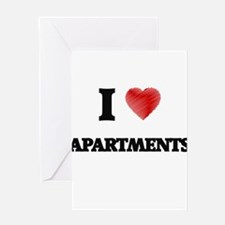 I Love APARTMENTS Greeting Cards
