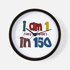 """I Am 1 In 150"" 3 Wall Clock"