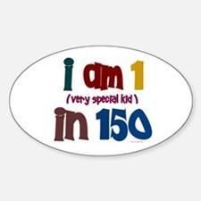 """""""I Am 1 In 150"""" 3 Oval Decal"""