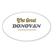 Donovan Oval Decal