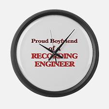 Proud Boyfriend of a Recording En Large Wall Clock