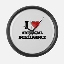 I Love ARTIFICIAL INTELLIGENCE Large Wall Clock