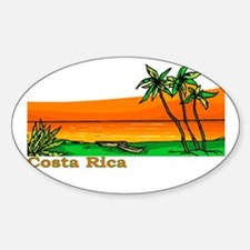 Costa Rica Oval Decal