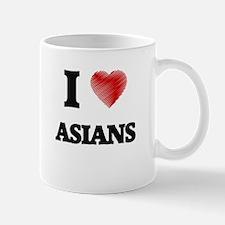 I Love ASIANS Mugs