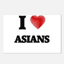 I Love ASIANS Postcards (Package of 8)