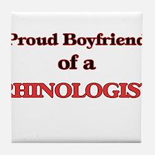 Proud Boyfriend of a Rhinologist Tile Coaster