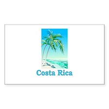 Costa Rica Rectangle Decal