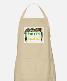 Sukkot Poster Welcome BBQ Apron