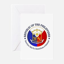 The Philippines (rd) Greeting Cards