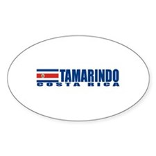 Tamarindo, Costa Rica Oval Decal