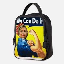 Hillary Can Do It Neoprene Lunch Bag