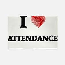 I Love ATTENDANCE Magnets