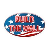 Build the wall Oval Car Magnets
