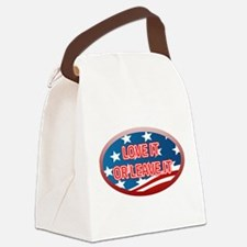 LOVE IT OR LEAVE IT! AMERICAN FLA Canvas Lunch Bag