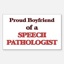 Proud Boyfriend of a Speech Pathologist Decal