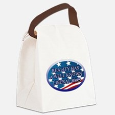 REALITY HAS A WELL KNOWN LIBERAL Canvas Lunch Bag
