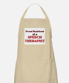 Proud Boyfriend of a Speech Therapist Apron