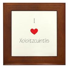 I love Xoloizcuintlis Framed Tile