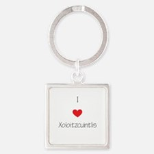 I love Xoloizcuintlis Square Keychain