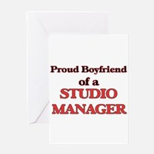 Proud Boyfriend of a Studio Manager Greeting Cards